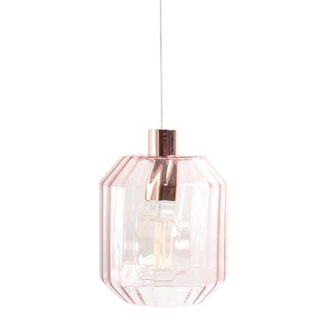 Textilkabel Le glasla dreamy rosa 22 5x30 cm hängande la i glas