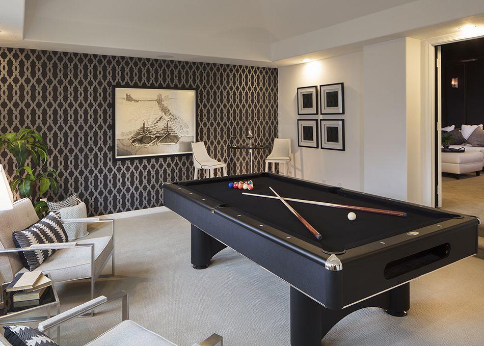 Modern Black White Billiard Room Modern Pool Table Room Billiards Room Decor Pool Table Room