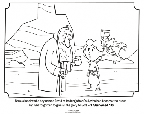 Kids Coloring Page From What S In The Bible Featuring Samuel