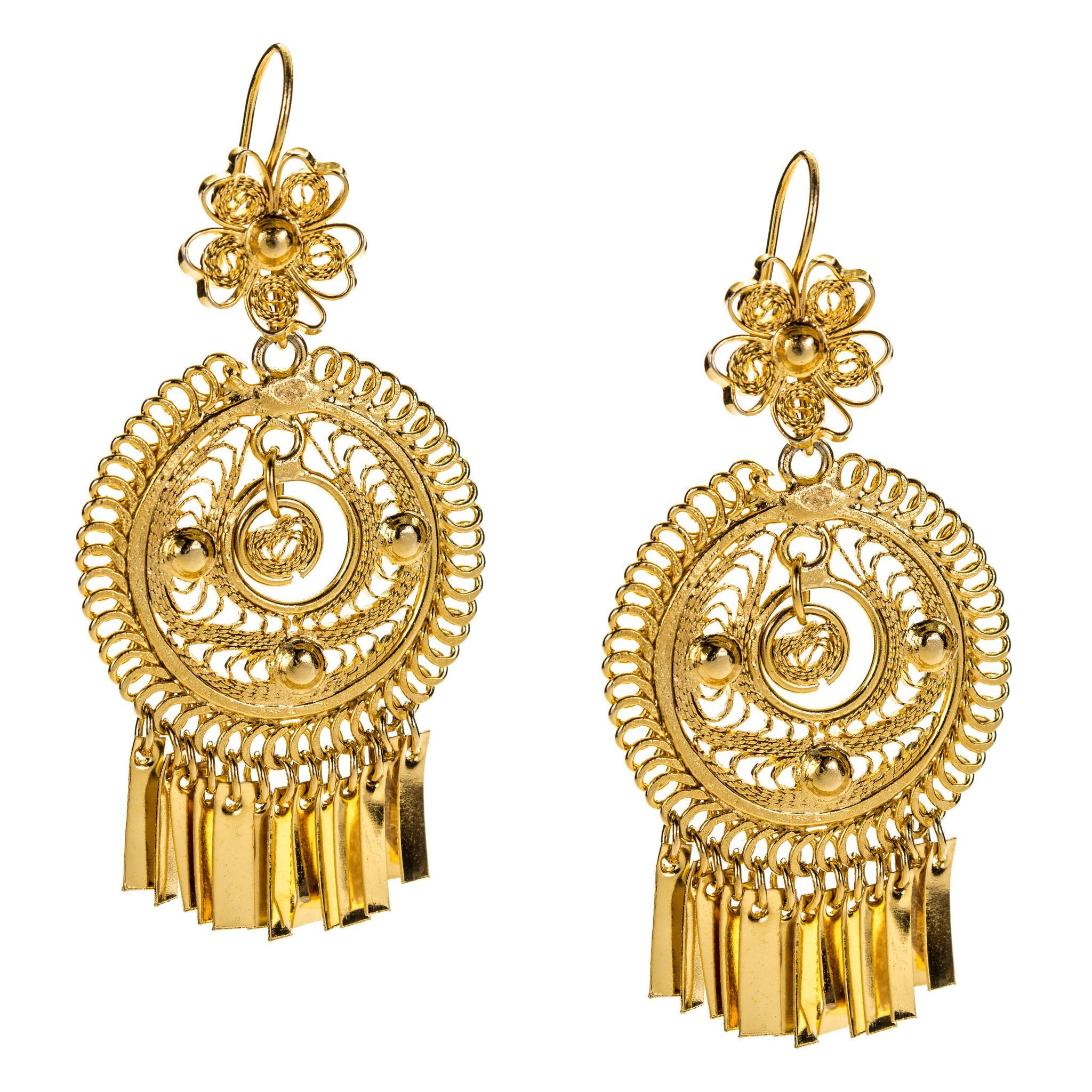 bf3f739cf228 Mexican Filigree Earrings from Oaxaca Trajes Tipicos Mexicanos