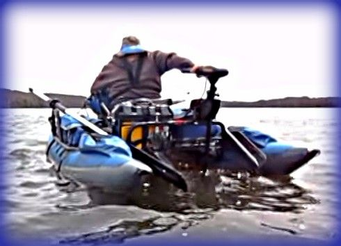 Inflatable pontoon bass fishing tips boating pinterest for Inflatable fishing pontoon