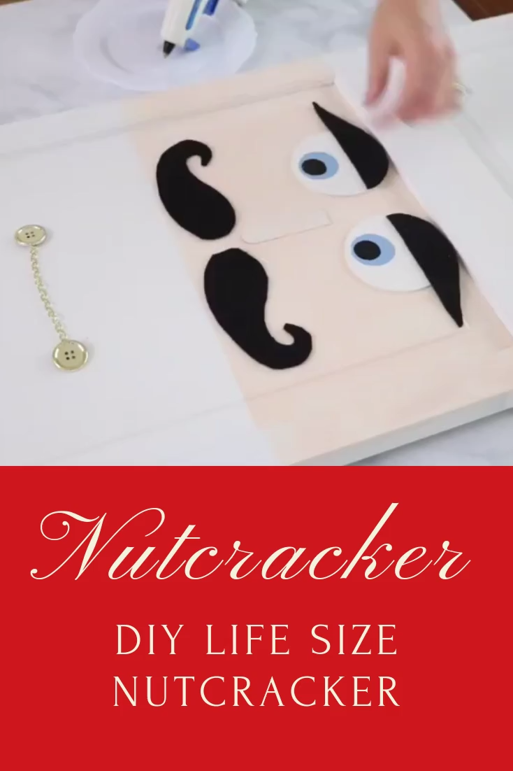 How to make a life size nutcracker from an old closet door.  This upcycle toy soldier DIY is simple to make and a fun idea to add to your holiday decorations.  These ideas will bring joy to your home and bring a smile to the face.  Great for outdoor, indoor, porch or by your Christmas tree.  Detailed step by step instructions.  #Christmasdecor #nutcracker #howtomake #diy