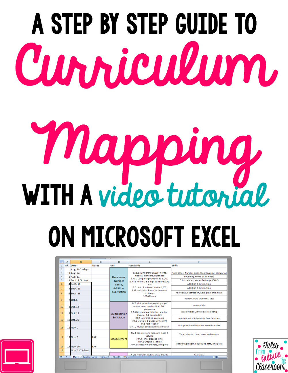Curriculum Mapping with Excel Curriculum mapping