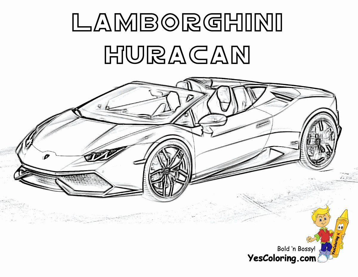 Coloring Pages Sports Cars Awesome Sports Cars Coloring Pages Unique 20  Beautiful Lamborghini in 2020 | Sports coloring pages, Cars coloring pages, Coloring  pages
