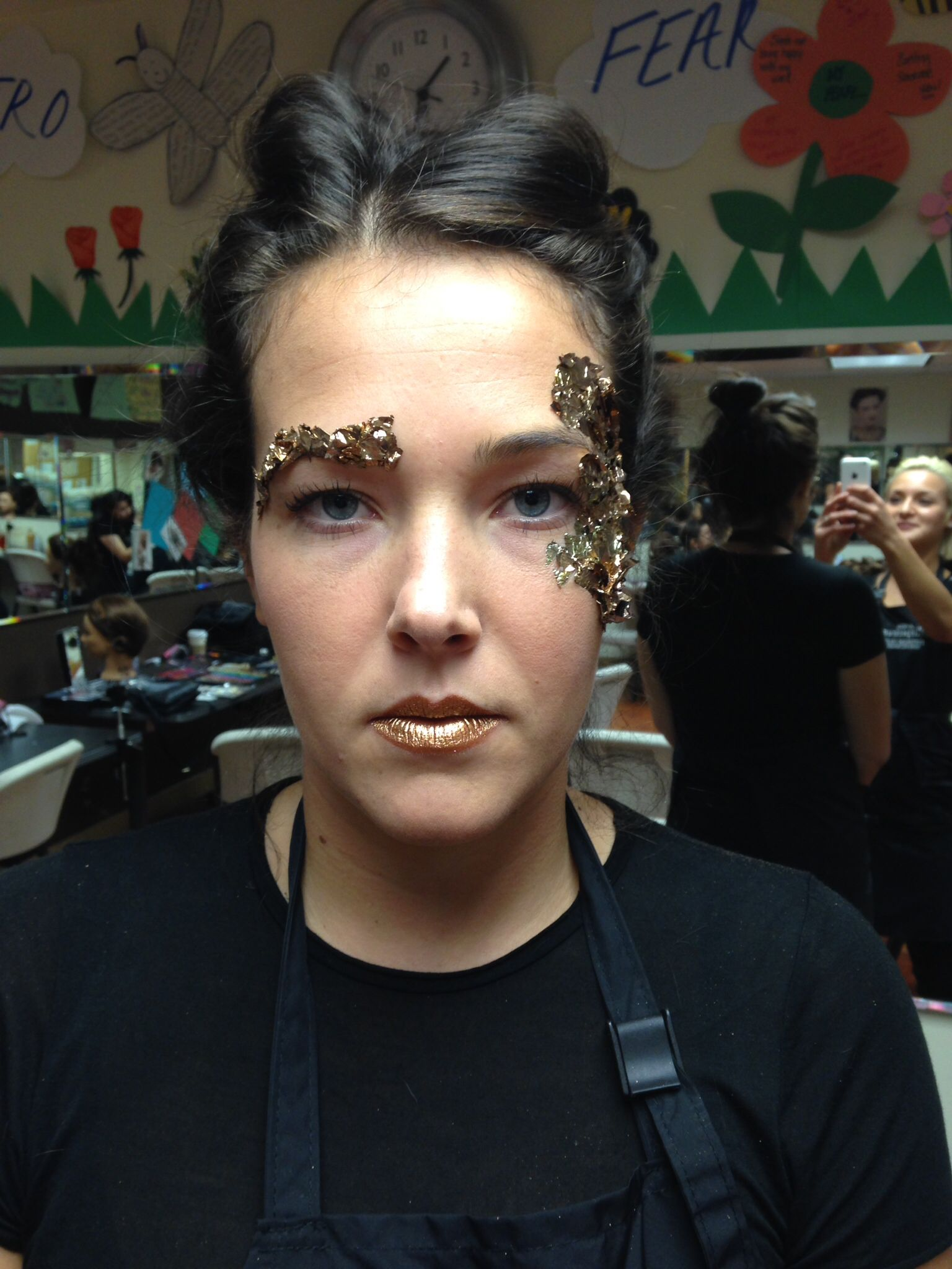 Gold Lipstick Leaf Makeup Avant Garde Created By Fif Inez