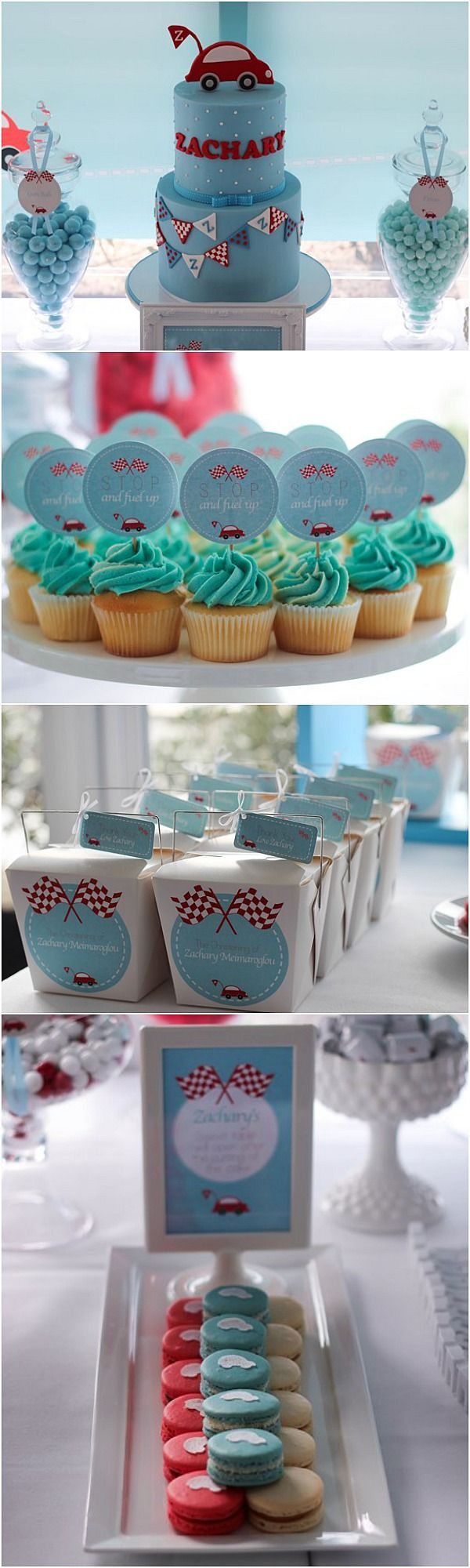 Cutest Little Red Car Party partiesforboys Boy cakes