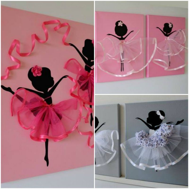 Ballerina Wall Art ballerina canvas wall art, kristna from flora's shop has a series