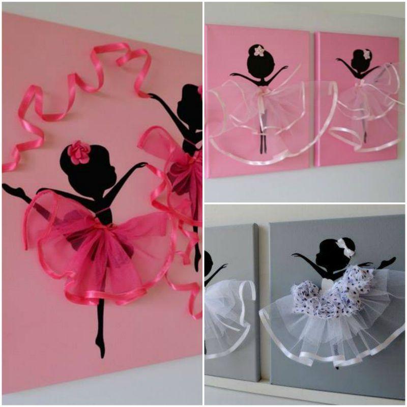 Ballerina Wall Art ballerina canvas wall art, kristna from flora's shop has a series