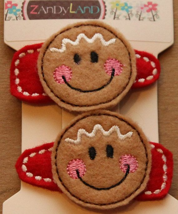 Gingerbread Hair Clip Favors