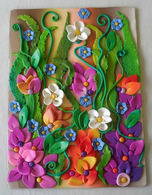 Best 25 clay flowers ideas on pinterest fondant flowers for Clay mural tutorial