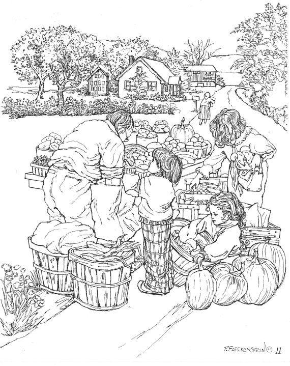 Farmer Market Coloring Sheet Coloringsheet Worksheets