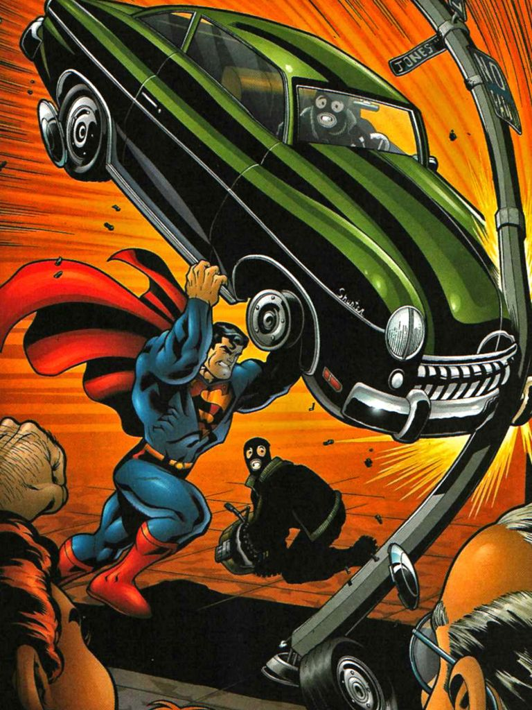 Many artist love to recreate the cover from action comics issue 1 and who can blame them, it's an iconic cover.