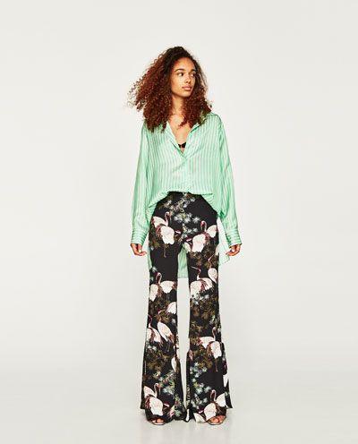 pantalon mujer zara de seda