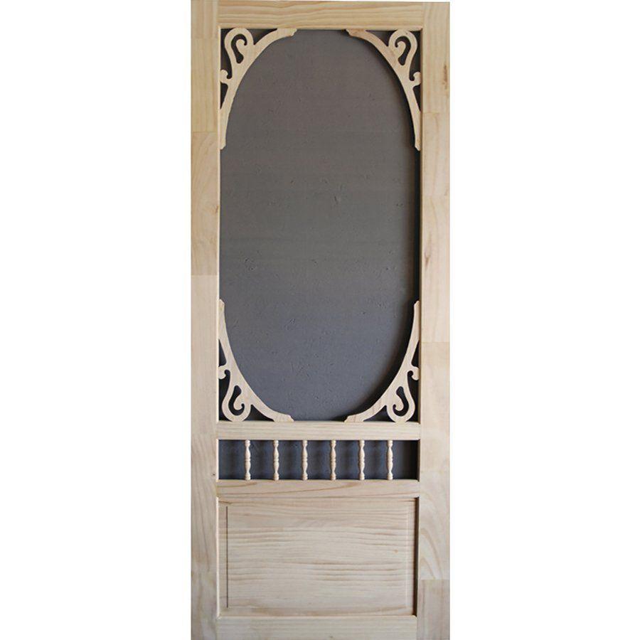 Attirant Screen Tight Glenwood Wood Natural Wood Screen Door (Common: 32 In X 80 In;  Actual: 32 In X 80 In) | Loweu0027s Canada