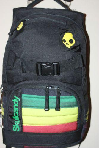 1eaac23d84fe Skullcandy RASTA RED YELLOW GREEN BACKPACK COMPUTER BAG  NEW