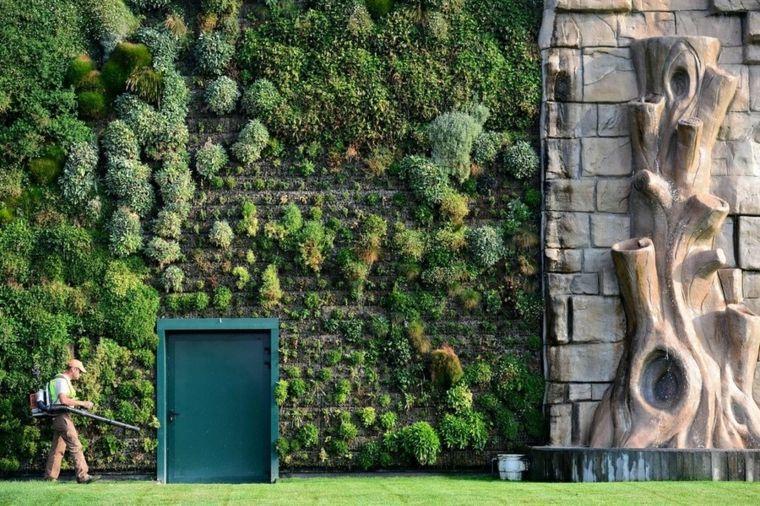 diseño jardines verticales puerta Jardín Vertical Pinterest