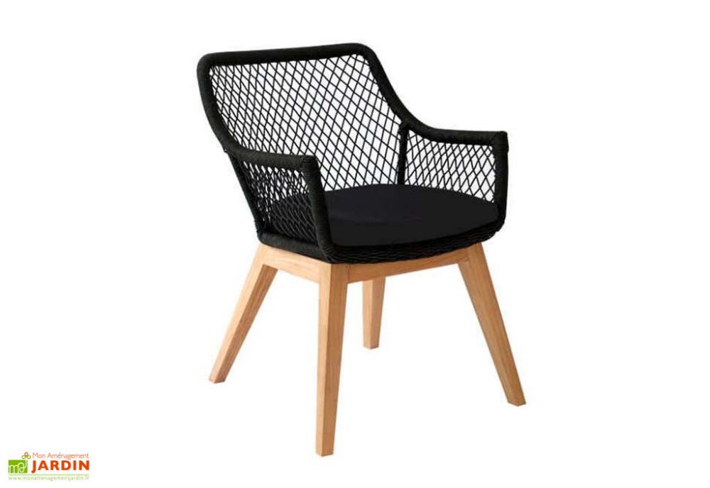 fauteuil de jardin en bois de teck