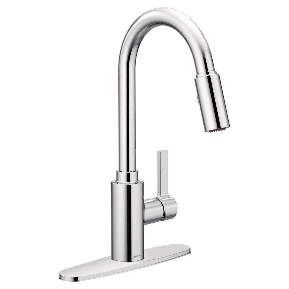 Moen 7882 Genta Pull Down Spray Kitchen Faucet Chrome Grey