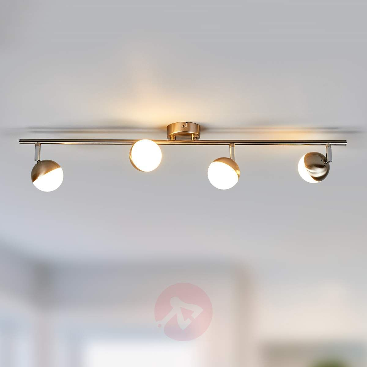 Skromna lampa sufitowa LED Jonne, nikiel matowy | Taklampa