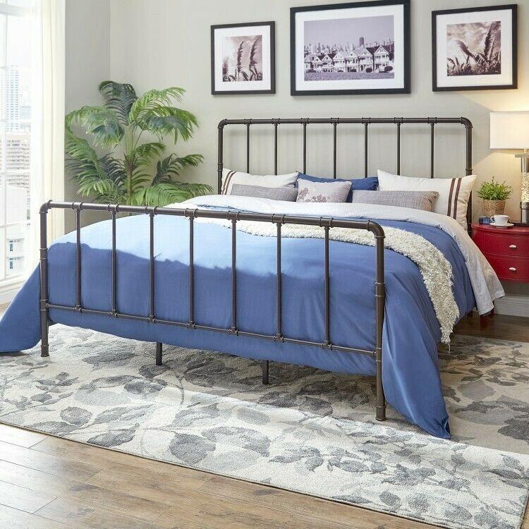 Ebay Sales Home Garden Discounts King Metal Bed Bronze Bedframe
