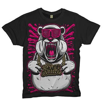 Eskimo Callboy - CoolBear on Black T-Shirt - T-shirts - Official Merch - Powered by Merch Direct