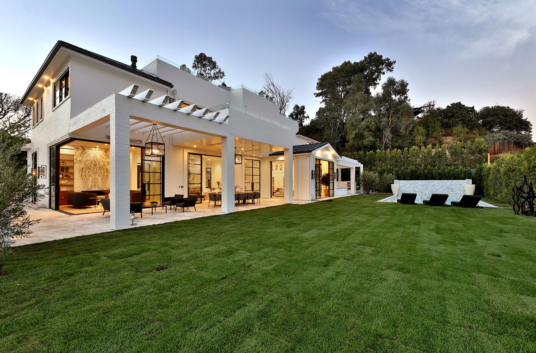 Los Angeles Luxury Home Backyard Exterior