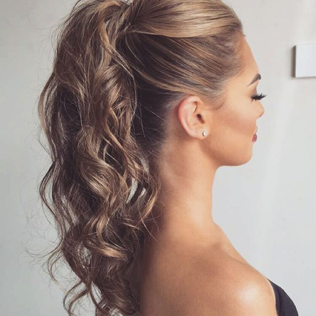 Curly Ponytail With A Bouffant 20 Date Night Hair Ideas To Capture All The Attention
