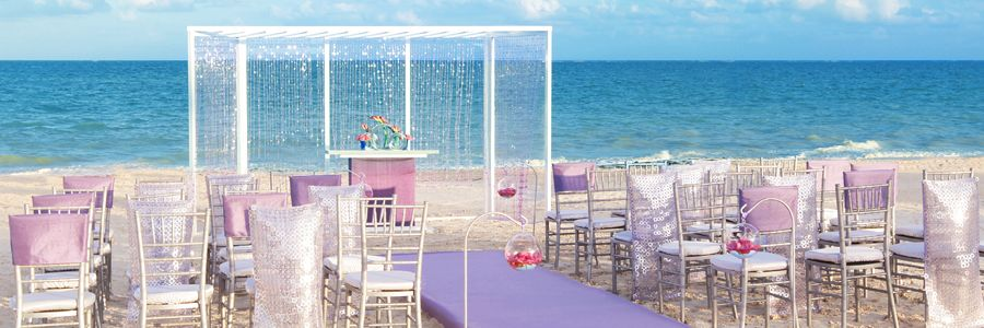 Hard Rock Hotel Punta Cana Purple Shimmer Wedding Collection