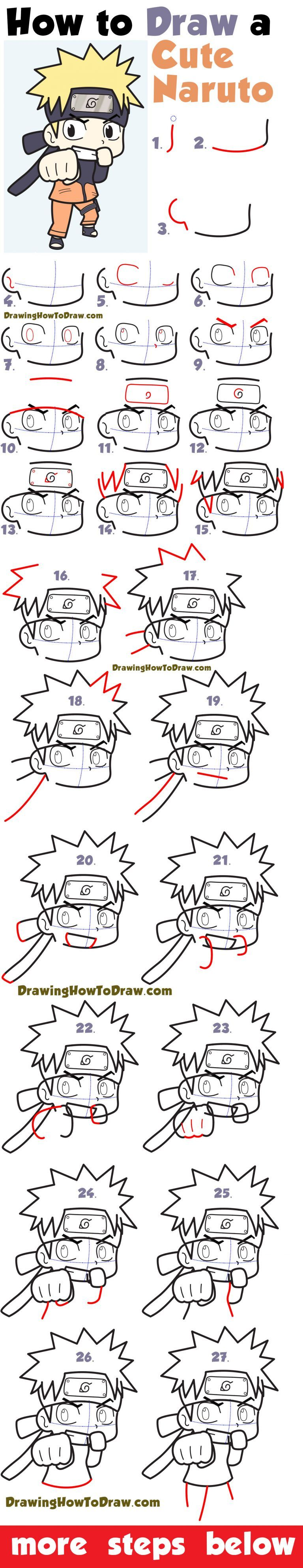 How To Draw A Cute Chibi Naruto Easy Step By Step Drawing Tutorial