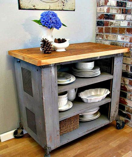 7 Diy Kitchen Islands To Really Maximize Your Space Homemade Kitchen Island Diy Kitchen Island Rustic Kitchen Island