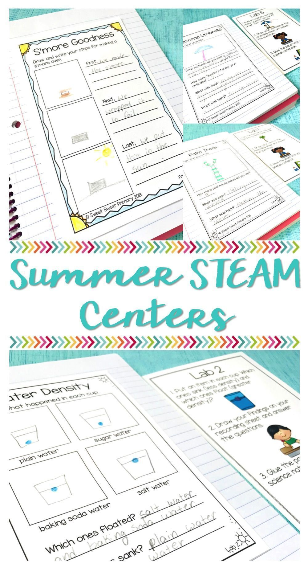 End of the Year Summer STEAM Centers | Science experiments, Summer ...