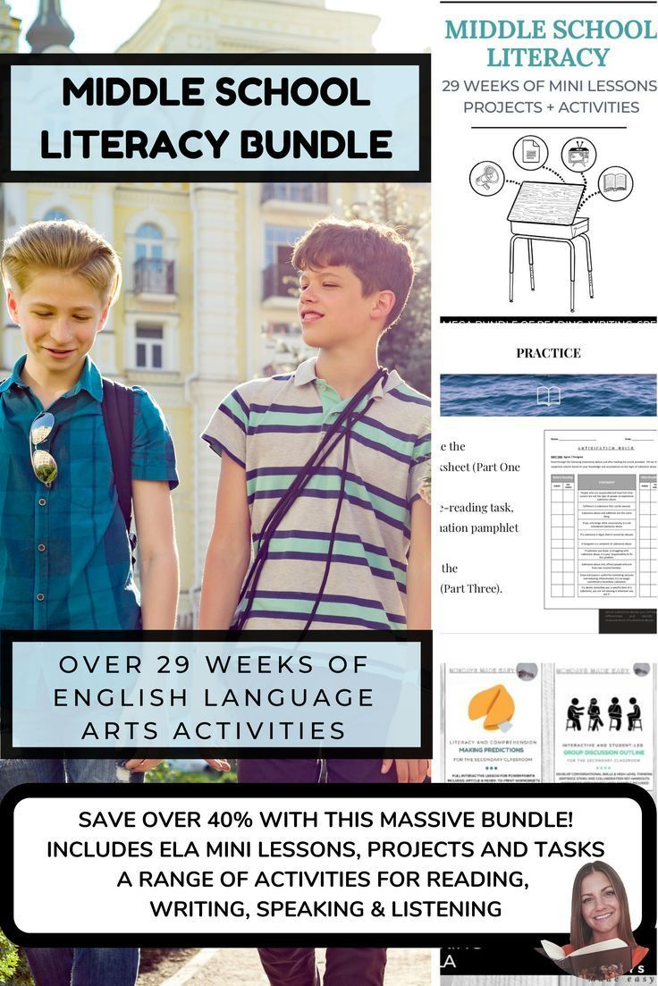 Middle School ELA Bundle, ELA Lesson Plans, 29 weeks of Middle School Literacy