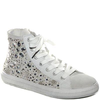 Sneaker in tessuto color ghiaccio con rialzo interno.  7544af34e8e