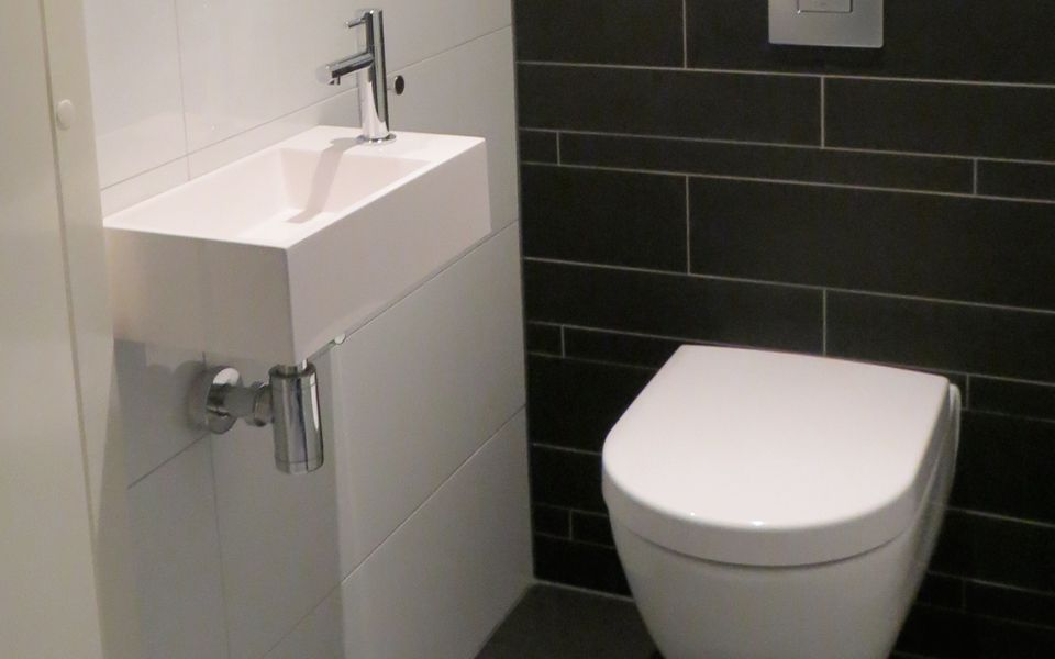 Toilet zwart wit badkamer badkamer toilet