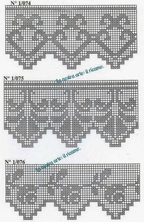 Szydełkomania: Bordiury | patrón crochet | Pinterest | Filete ...