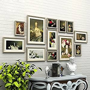 d30a3ec543d Buy WollWoll European Illustration Classic Paintings Living Room Design Wood  Photo Frame Set (175 cm