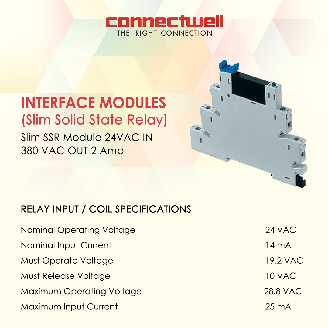 Product Slim Solid State Relay Interface Modules Connectwell is