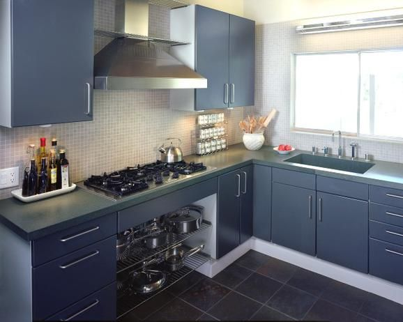 Blue and Grey Kitchen Cabinet Painting Ideas that Accent your ...