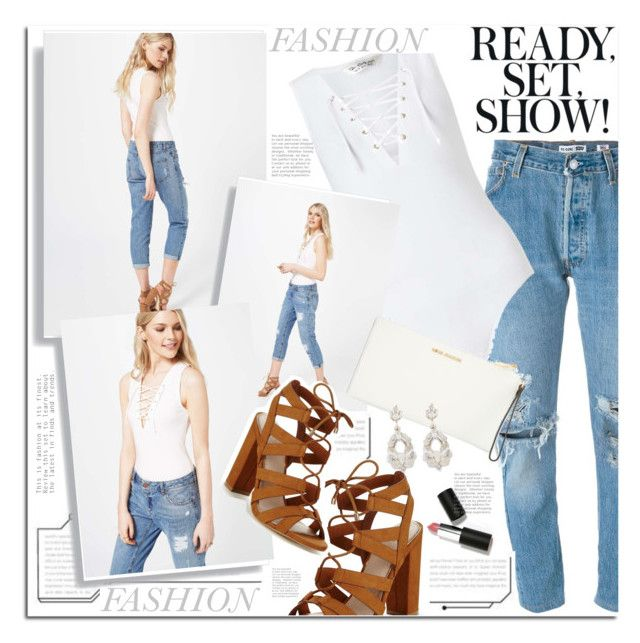 """""""fashion ready set show"""" by licethfashion ❤ liked on Polyvore featuring Levi's, Miss Selfridge, Lipsy, MICHAEL Michael Kors and Sigma Beauty"""