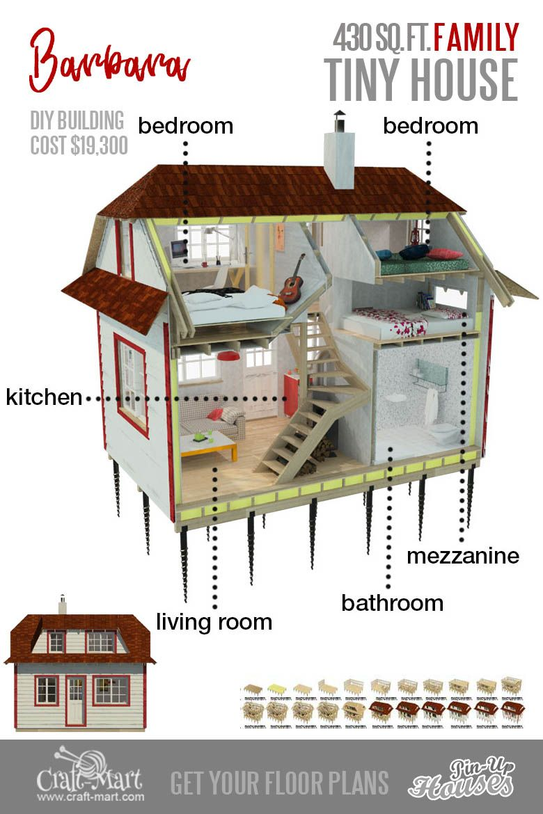 9 Plans Of Tiny Houses With Lofts For Fun Weekend Projects Craft Mart Micro House Plans Tiny House Floor Plans House Floor Plans