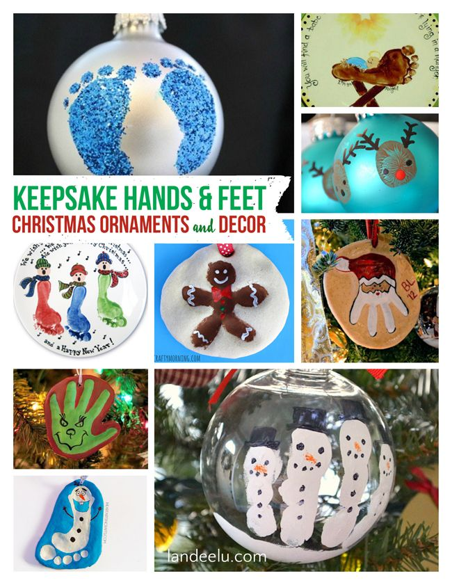 Diy Christmas Ornaments Using Kids Hands And Feet Diy Christmas Tree Ornaments Christmas Ornaments Diy Christmas Ornaments