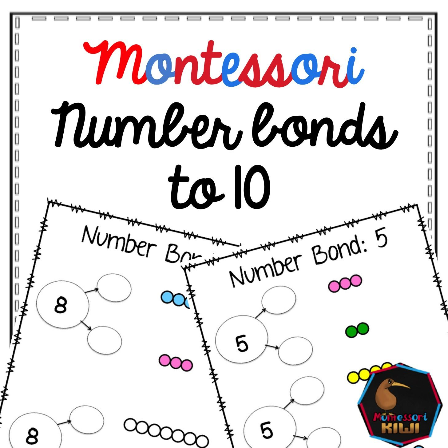Colored Bead Number Bonds To 10 Montessori Basic Addition Fact