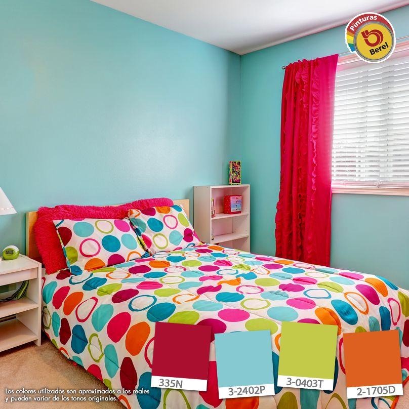Celeste con colores intensos para habitaciones de - Colores de habitaciones ...
