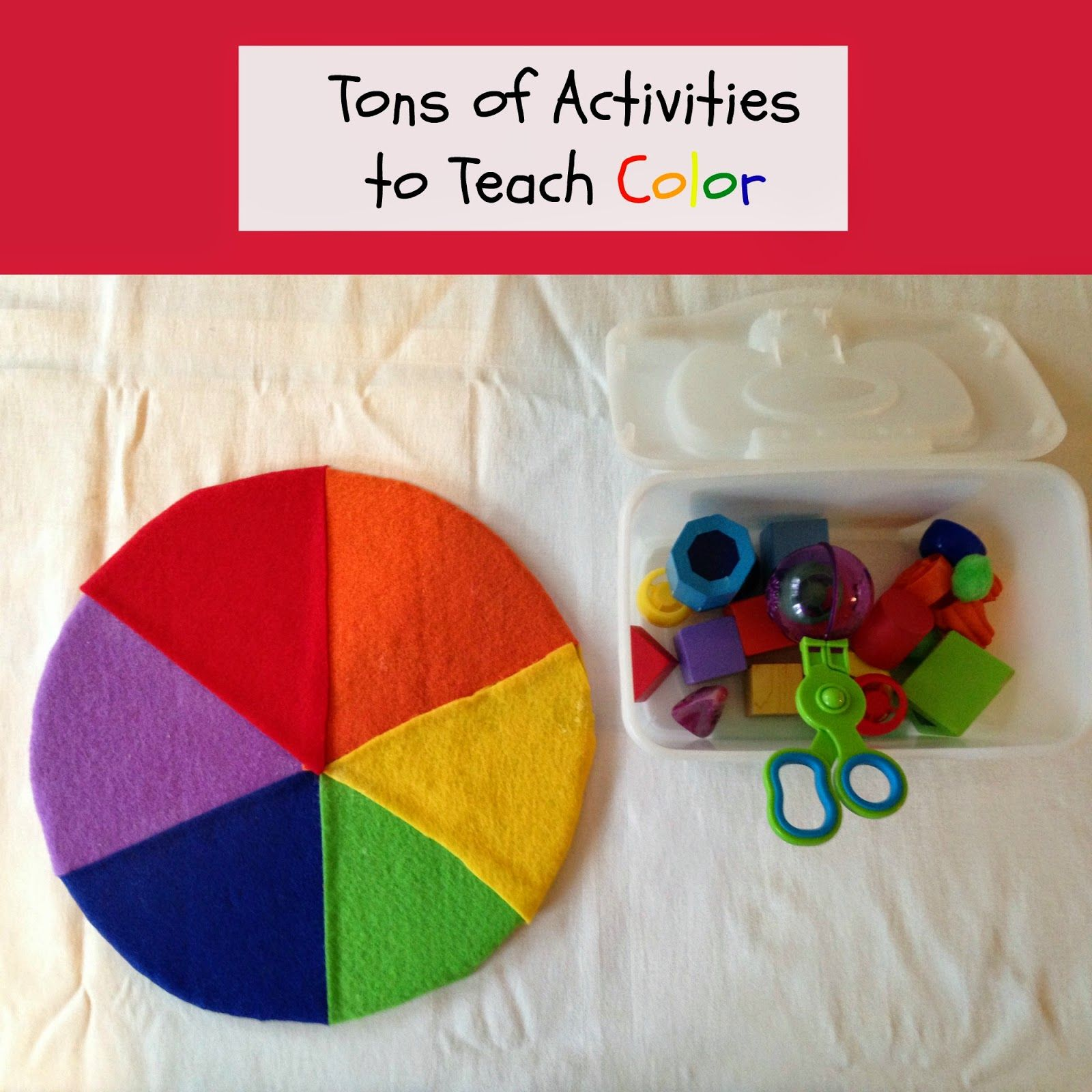 Activities for colors for toddlers - Easy And Fun Activities For Teaching Colors From Natural Beach Living