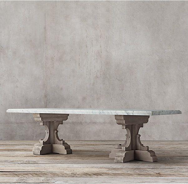 17th C French Bastide Oak Marble Rectangular Dining Table Dining Table Marble Dining Table Marble Dining