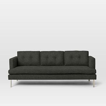 """Jackson 88"""" Sofa, Heathered Tweed, Granite"""