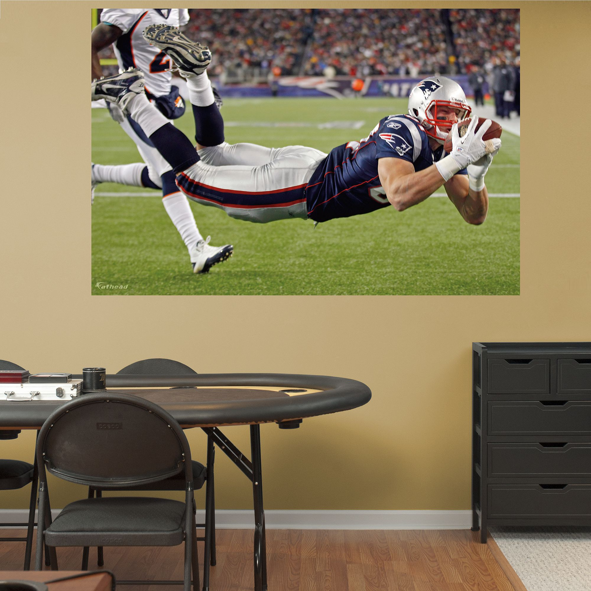 Rob Gronkowski Diving Touchdown - In Your Face Mural | New England ...