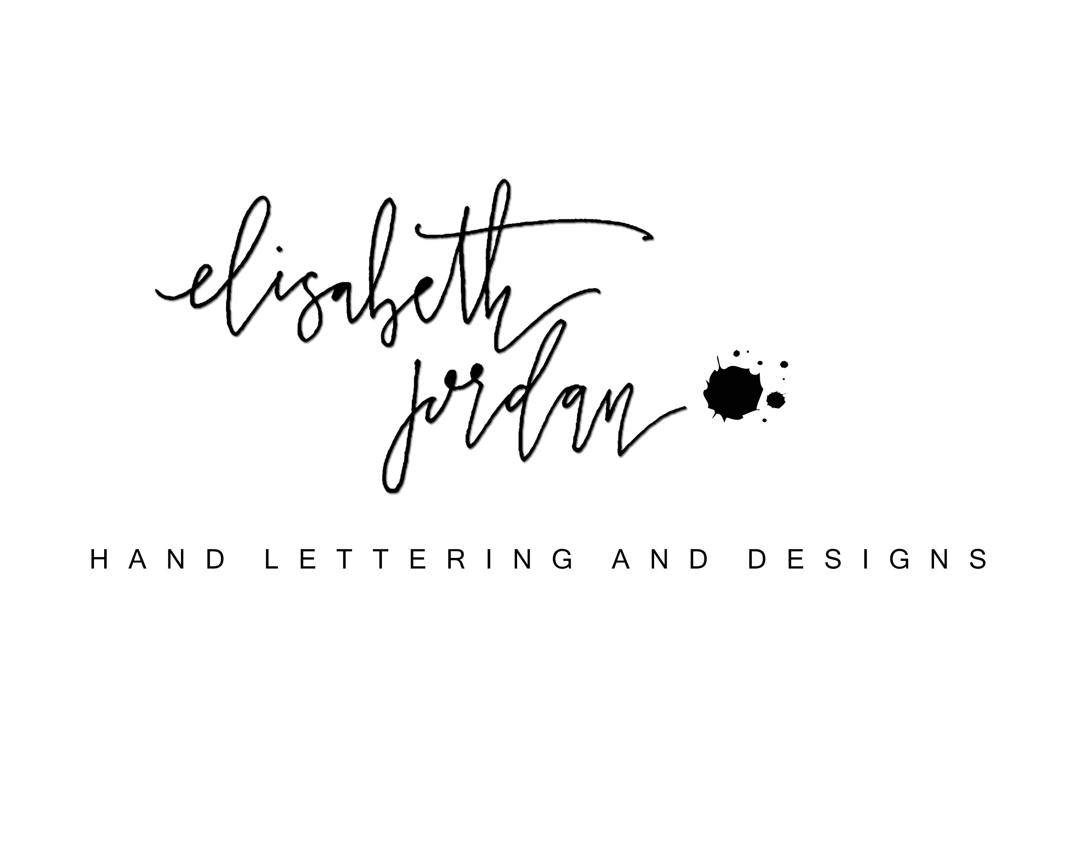 New Logo!  www.elisabethjordancalligraphy.com