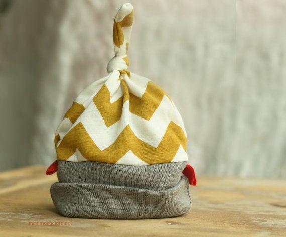 0 to 3 Months Mustard Yellow Baby Beanie