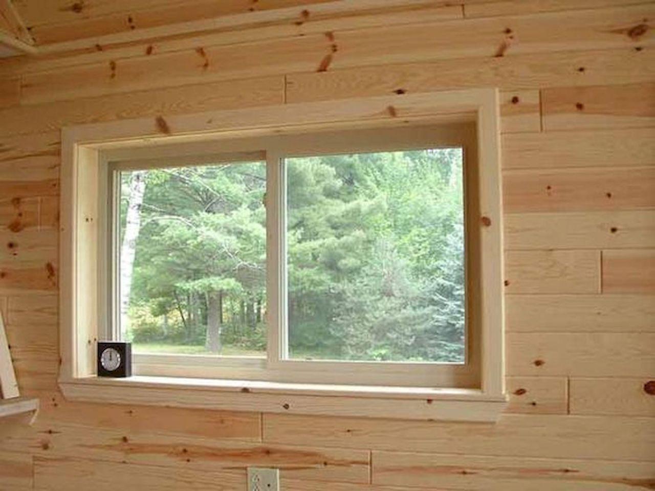 43 Favorite Window Trim Interior Design Ideas 15 Ideaboz Pine Trim Rustic Window Knotty Pine Paneling
